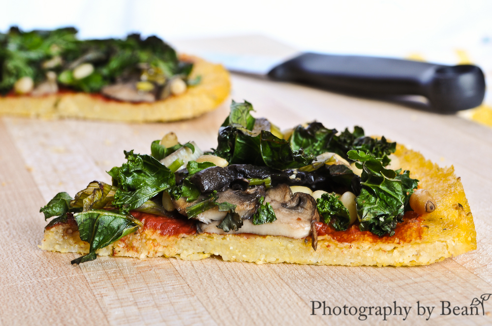Polenta Pizzas Recipe — Dishmaps