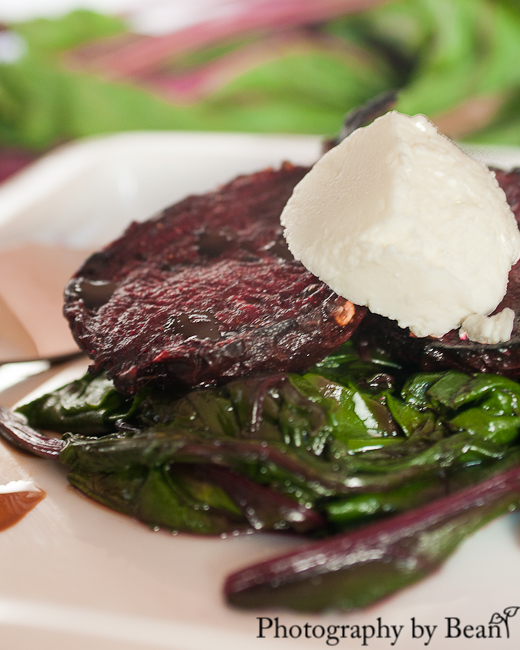 Grilled Ginger Beets with Goat Cheese and Sauted Beet ...