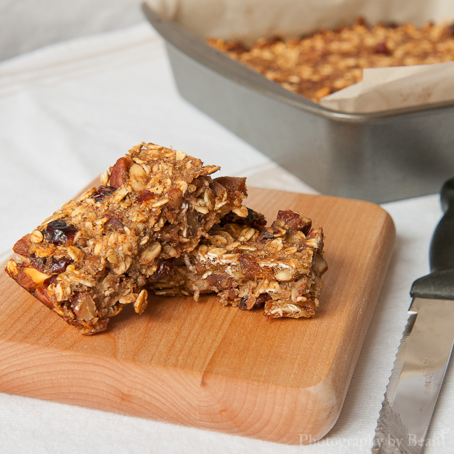 ... Low Fat Granola Bars with Bananas, Cranberries and Pecans   Without