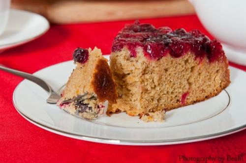 GF Cranberry Upsidedown Cake-3