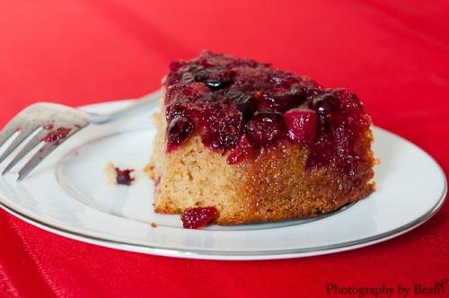 GF Cranberry Upsidedown Cake-4