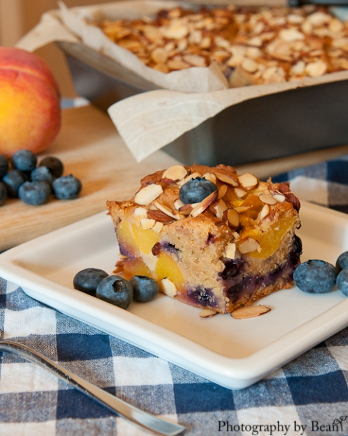 Life on Food Peach and Blueberry Buckle-3