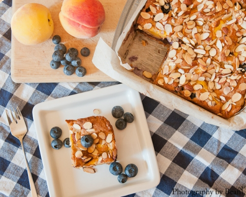 Life on Food Peach and Blueberry Buckle-4