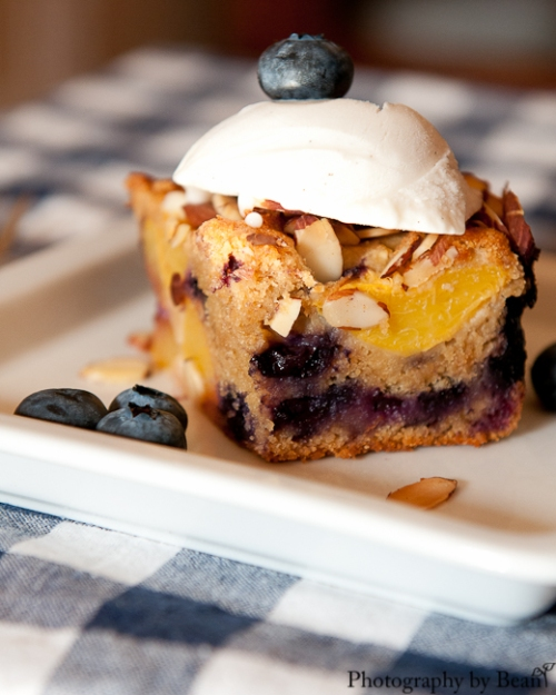 Life on Food Peach and Blueberry Buckle-5