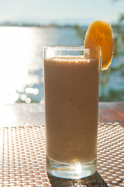 Vegan Almond Butter Banana Milkshake-1