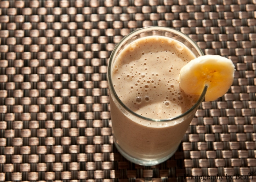 Vegan Almond Butter Banana Milkshake-2