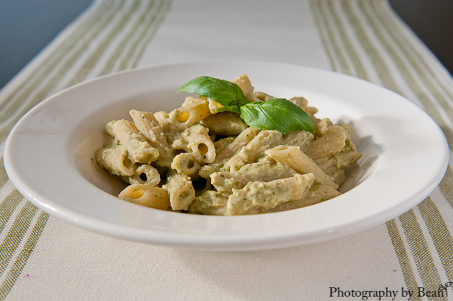 SRC: A Kitchen Hoor's Bean and Basil Pesto Penne | Without Adornment