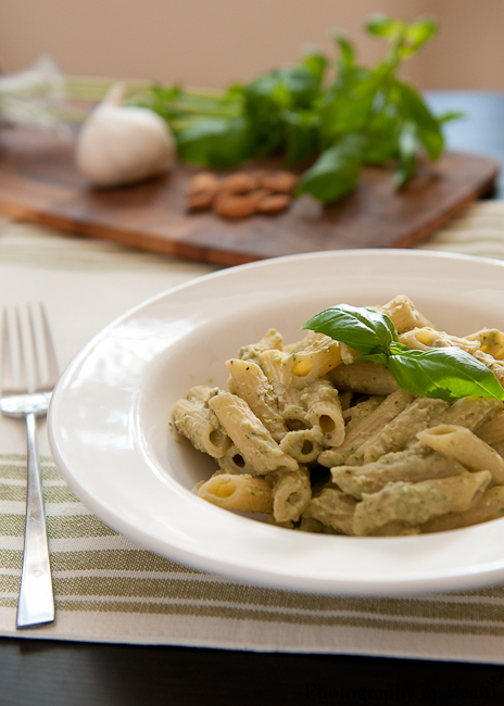 A Kitchen Hoor's Bean and Basil Pesto Penne-4