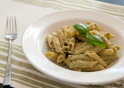 A Kitchen Hoor's Bean and Basil Pesto Penne-5