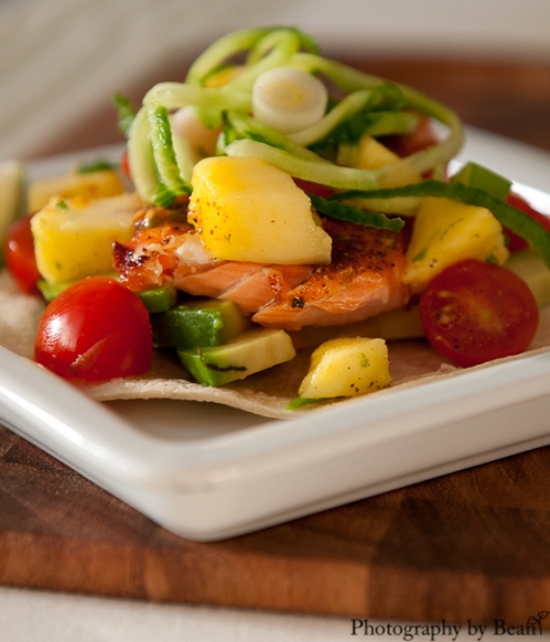 Fish tacos with mango salsa without adornment for Fish tacos with mango salsa