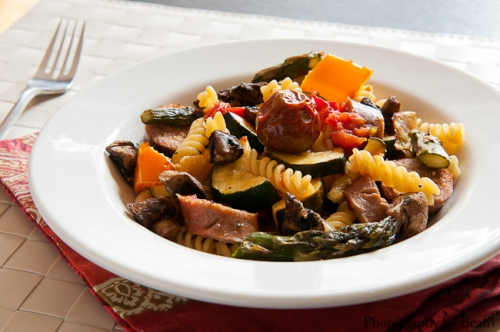 Roasted Vegetable and Sausage Pasta-2