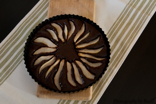 Fearless Homemake Chocolate Almond Pear Tart-1