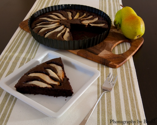 Fearless Homemake Chocolate Almond Pear Tart-3